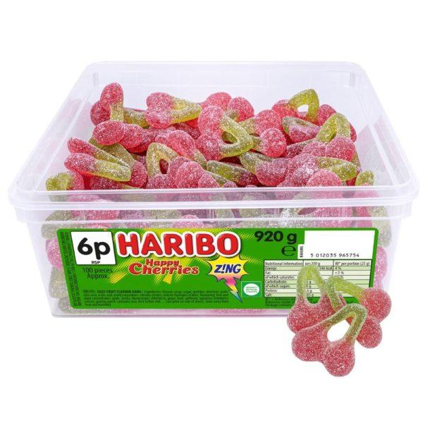 Haribo Happy Cherries Zing 6p Tub 920g