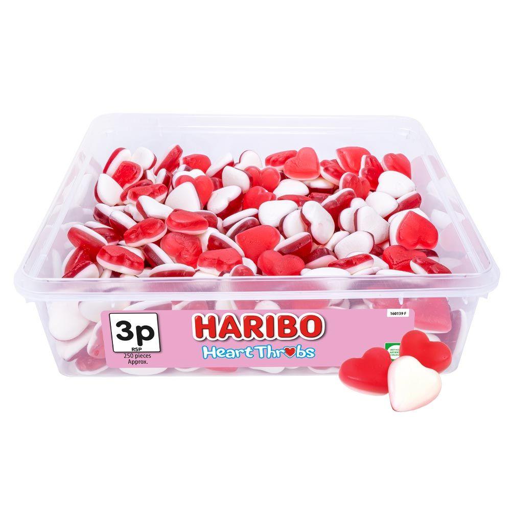 Haribo Heart Throbs 3p Tub 725g