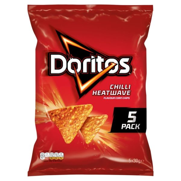 Doritos Chilli Heatwave Multipack Tortilla Chips 30g 5 Pack