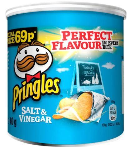 Pringles Salt & Vinegar 40g 69p PMP