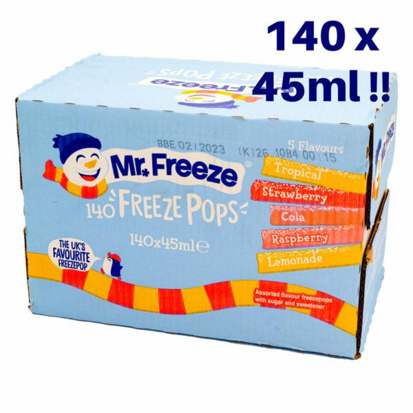 Mr Freeze Ice Pops lollies 140 x 45ml