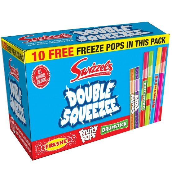 Swizzels Double Squeezee Freeze Pops 85ml 80+10 Pack