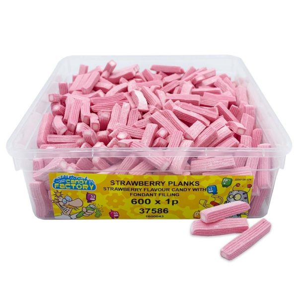 Crazy Candy Factory Strawberry Planks 1p Tub
