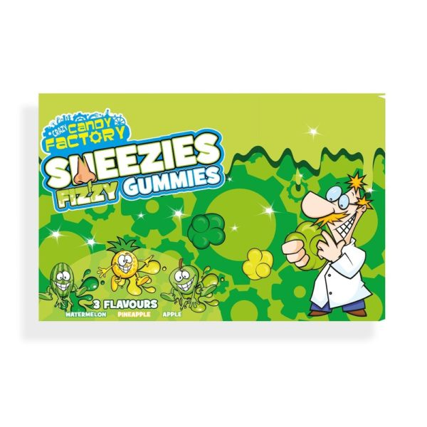 Crazy Candy Factory Sneezies Fizzy Gummies Theatre Box 92g