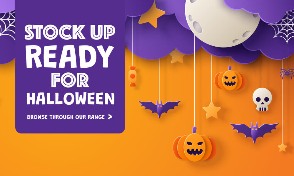 Stock up ready for Halloween